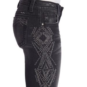 Miss Me Skinnies with Metallic Embroidery